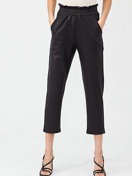 v-by-very-coated-paperbag-stretch-cropped-trousers-black