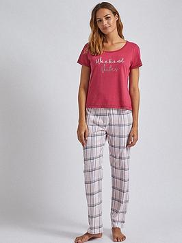 dorothy-perkins-dorothy-perkins-weekend-vibes-folded-pyjama-set-burgundy