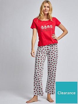 dorothy-perkins-cold-outside-folded-pyjama-set-red