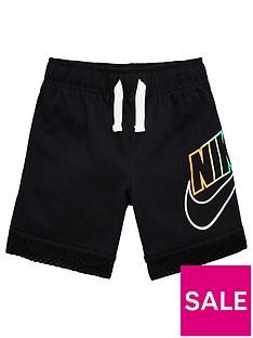 nike-sportswear-younger-boys-mesh-overlay-shorts-black