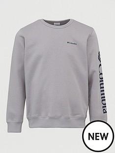 columbia-logo-fleece-crew-neck-sweat-grey-heather