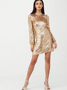 river-island-river-island-sequin-shift-dress-rose-gold