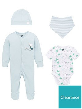 v-by-very-baby-boys-4-piece-sleepsuit-bodysuit-hat-and-bib-set-multi