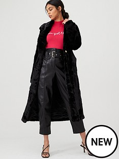 river-island-river-island-faux-fur-robe-longline-coat-black