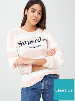 superdry-whittaker-logo-knit-peach