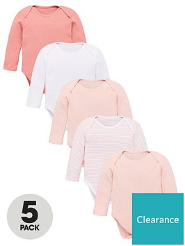 v-by-very-baby-girls-5-pack-long-sleevenbspessential-pink-mix-bodysuits-pink