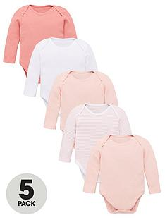 v-by-very-baby-girls-5-pack-ls-essential-pink-mix-bodysuits