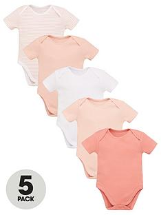 v-by-very-baby-girls-5-pack-ss-essential-pink-mix-bodysuits