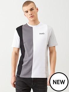 river-island-grey-paris-colour-block-slim-fit-t-shirt
