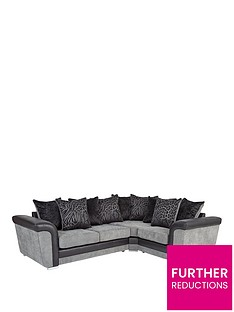 manhattan-fabric-and-faux-snakeskin-right-hand-double-arm-corner-group-sofa