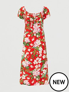 v-by-very-bardot-viscose-midinbspdress-red-print