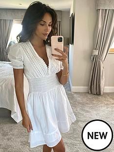 michelle-keegan-lace-insert-cotton-puff-sleeve-mininbspdress-white
