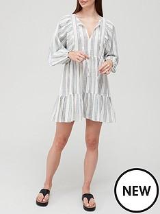 v-by-very-tiered-cotton-mini-beach-dress-stripe
