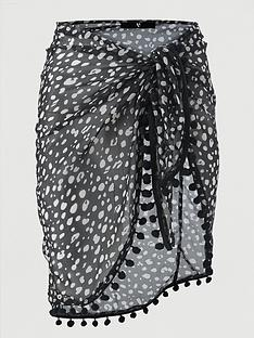 v-by-very-pom-pom-trim-beach-sarong-animal-print