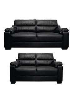 saskianbspleatherfaux-leather-3-seaternbsp-2-seater-compact-sofa-set-buy-and-save