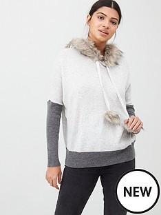 river-island-faux-fur-trim-hoody--grey