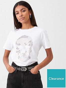 river-island-river-island-embellished-skull-print-t-shirt--white