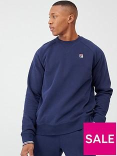 fila-pozzi-tipped-cuff-sweatshirt-navy