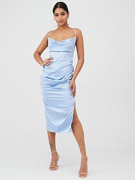 in-the-style-in-the-style-x-laura-jade-polka-dot-satin-cowl-neck-midi-dress-blue