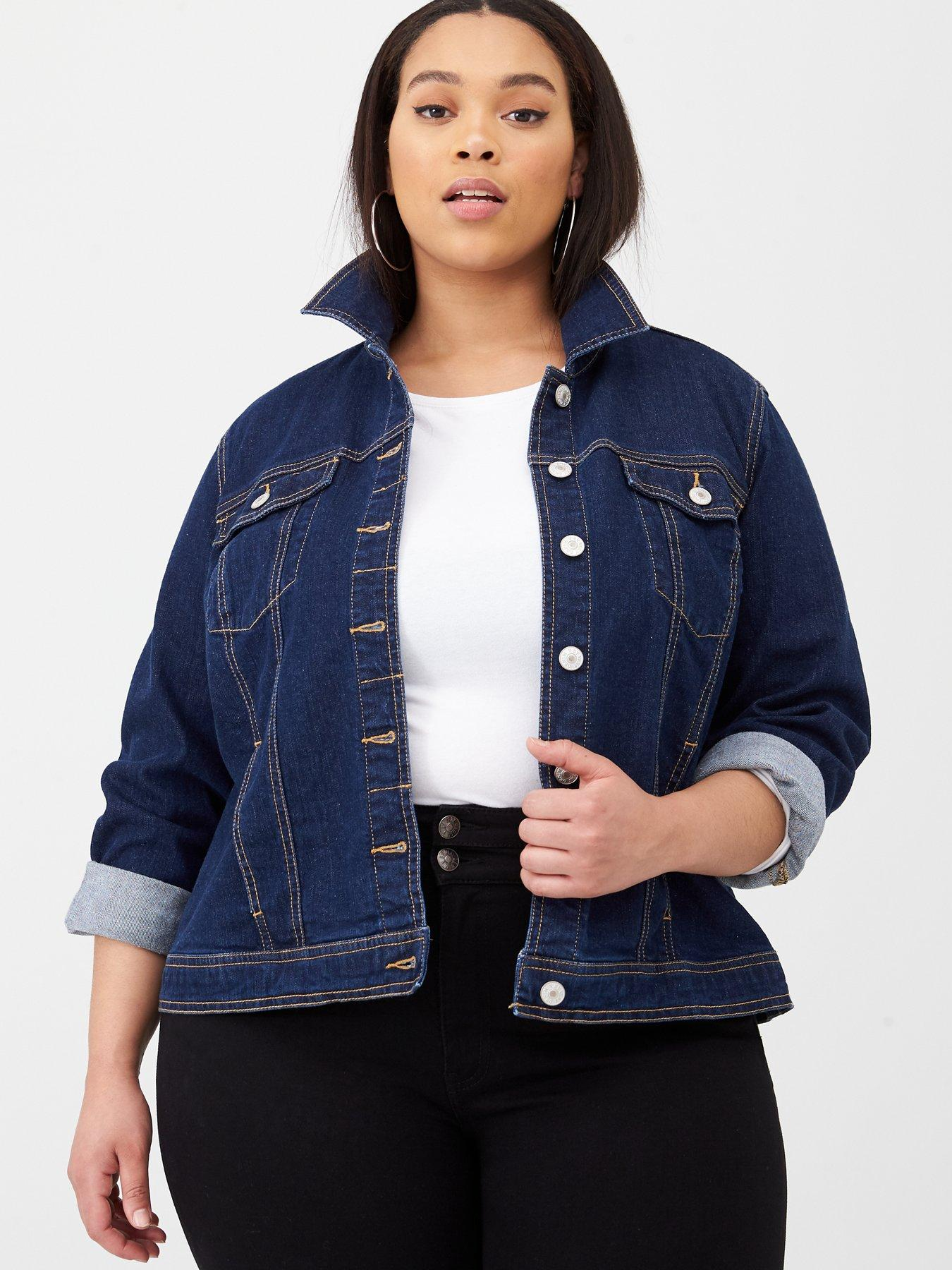 END GAME Women Denim Jacket Pearls Beading Denim Jacket Women Slim Cotton Light Washed Long Sleeve Jacket Coats