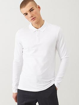 selected-homme-milano-long-sleeved-polo-shirt-white