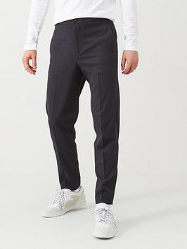 selected-homme-elasticated-waistband-trousers-navy
