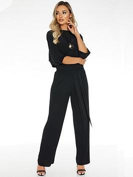 quiz-woven-palazzo-trouser-black
