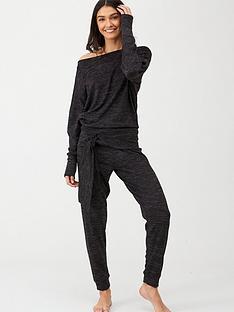 v-by-very-snit-tie-waist-legging-lounge-set-black