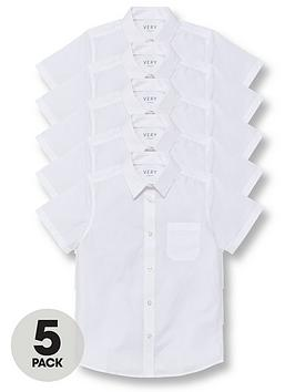 v-by-very-boys-5-pack-short-sleeve-school-shirts-white