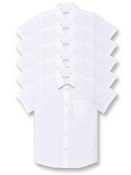 v-by-very-girls-5-pack-short-sleeve-school-blouses-white