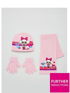 lol-surprise-girls-3-piece-born-to-rock-knitted-hat-scarf-and-gloves-set-light-pink