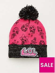 lol-surprise-girls-all-over-graphic-bobble-hat-pink