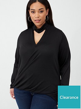 v-by-very-curve-choker-neck-jumper-black