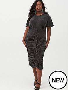 v-by-very-curve-lurex-ruched-detail-bodycon-dress-black-silver