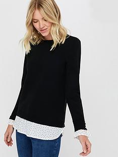 monsoon-jana-recycled-polyester-woven-mix-jumper-black