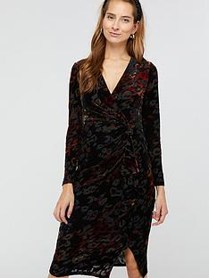 monsoon-val-animal-devore-print-dress-black