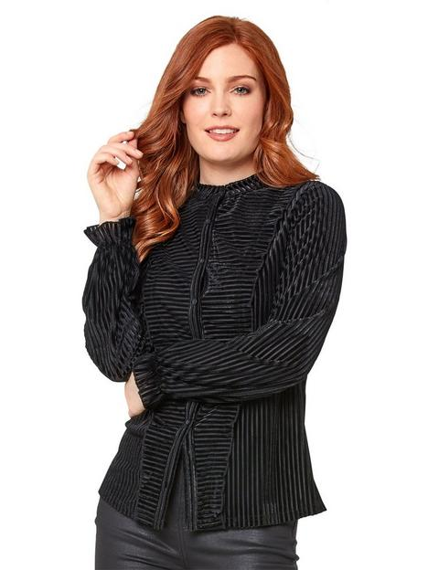 joe-browns-elegant-stripe-velour-blouse