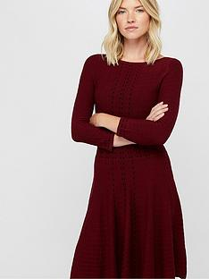 monsoon-freja-fit-and-flare-knitted-dress-berry