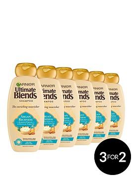 garnier-garnier-ultimate-blends-argan-oil-almond-cream-dry-hair-shampoo-360ml-pack-of-6