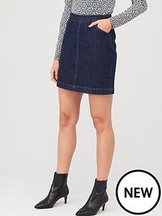 warehouse-denim-a-line-skirt-indigo