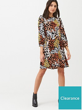 warehouse-cutabout-daisy-print-ruffle-mini-dress-multi