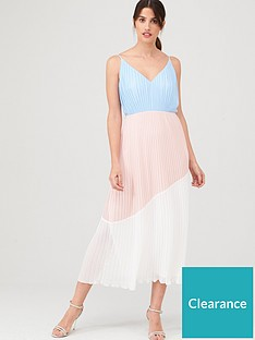 warehouse-colourblock-cami-dress-pale-pink