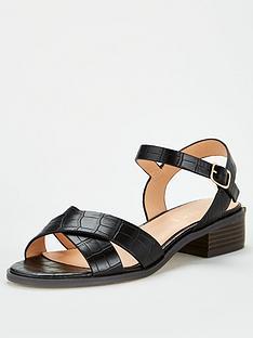 office-measure-flat-sandal-black