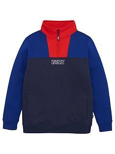 vans-childrens-14-zip-sweatshirt-bluered