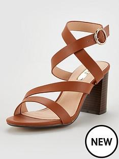 office-maroon-heeled-sandals-tan