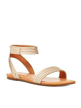 ugg-ethena-flat-sandal-goldnbsp