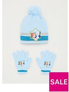 prod1089096135: Toddler Girls Disney Frozen 2 Hat & Glove Set - Blue