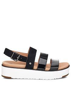 ugg-braelynn-wedge-sandal-black