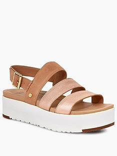 ugg-braelynn-wedge-sandal-rose-gold