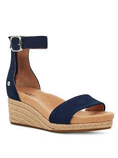 ugg-zoe-ii-wedge-sandals-navy